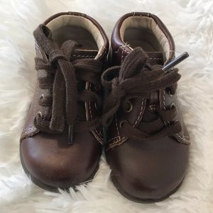 Stride Rite Elliot Brown Leather Shoes